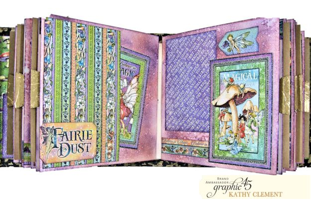 Fairie Dust Mini Album Fairie Dust by Kathy Clement Product by Graphic 45 Photo 09