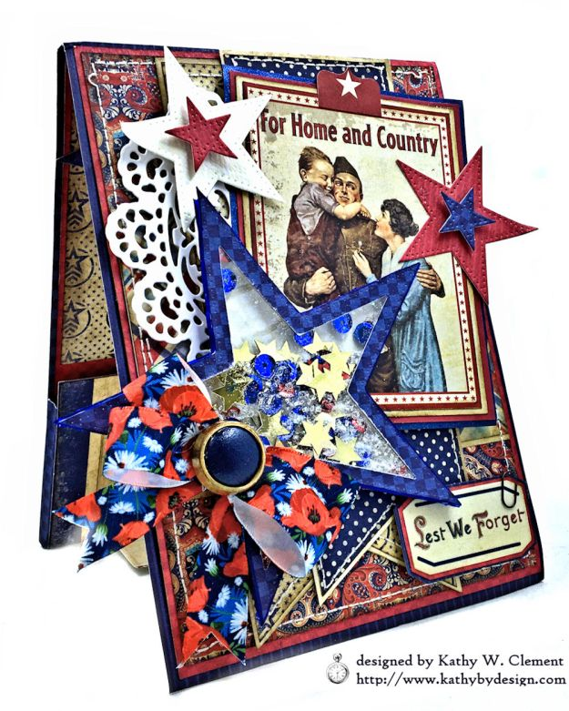 For Home and Country Memorial Day Card by Kathy Clement Photo 03