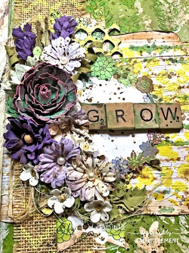 Little Birdie Crafts Succulent Garden Altered Journal Tutorial by Kathy Clement Photo 03