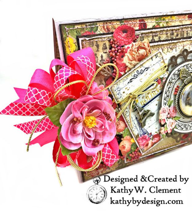 Dame Pretty Pink Parisian Card Dame by Kathy Clement for Really Reasonable Ribbon Product by Authentique Photo 03