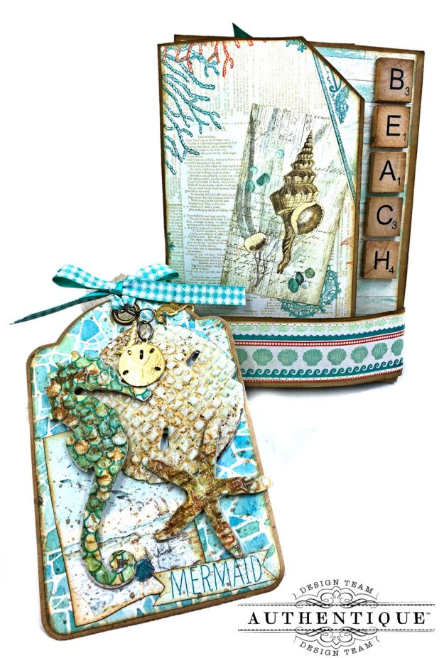 Sand and Sea Beach Walk Folio Sea Maiden by Kathy Clement Product by Authentique Photo 03