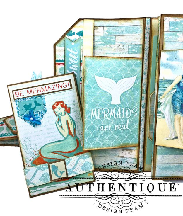 Sand and Sea Beach Walk Folio Sea Maiden by Kathy Clement Product by Authentique Photo 06