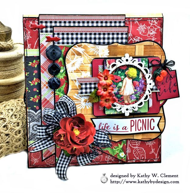 Authentique Cheerful Summer Picnic Folio by Kathy Clement Photo 01