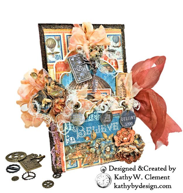Graphic 45 Imagine Steampunk Tag Folio by Kathy Clement for the Funkie Junkie Boutique Photo 02