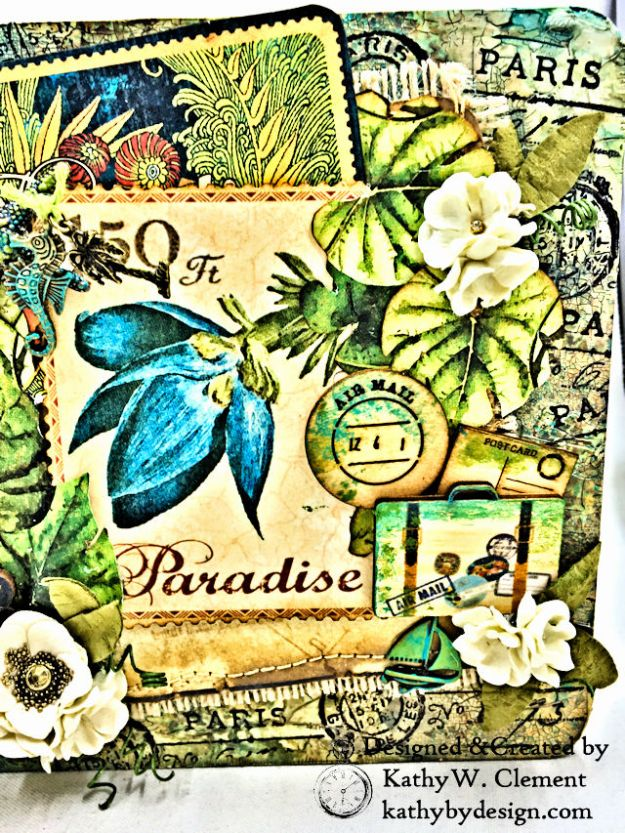 Tropical Travelogue Mini Album Tropical Travelogue by Kathy Clement Product by Graphic 45 Photo 02