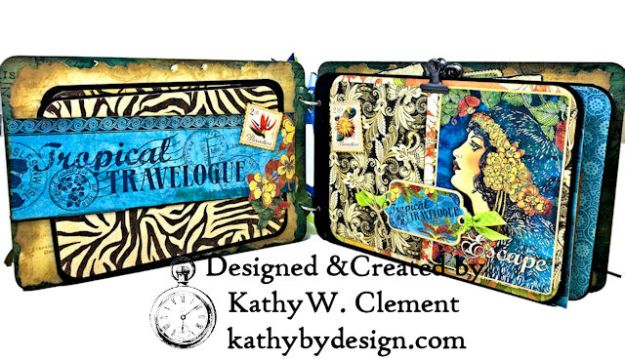 Tropical Travelogue Mini Album Tropical Travelogue by Kathy Clement Product by Graphic 45 Photo 05