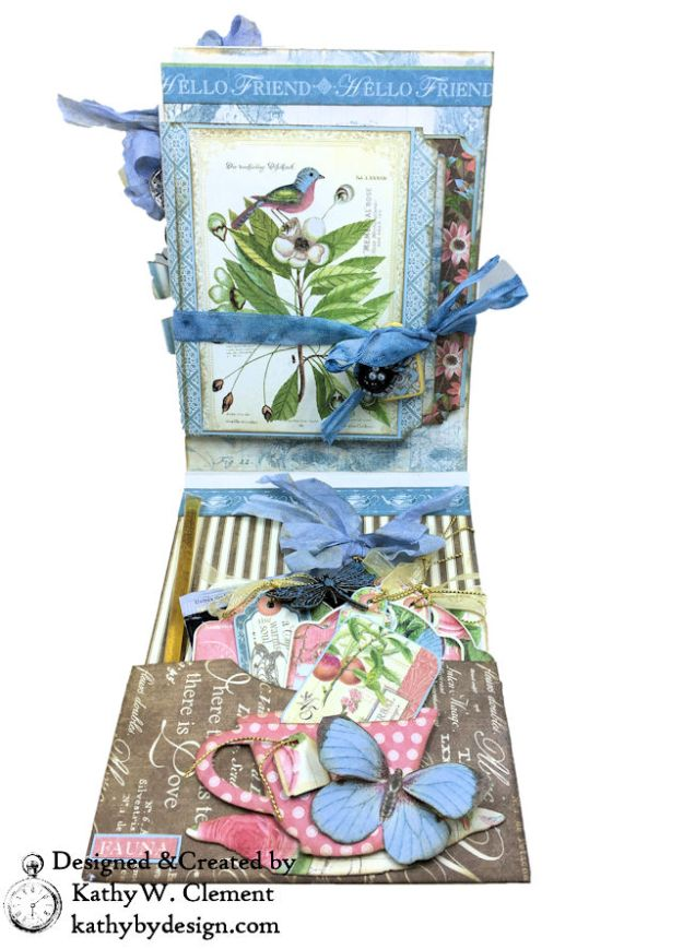 Graphic 45 Botanical Tea Songbird Folio by Kathy Clement for the Funkie Junkie Boutique Photo 05