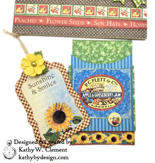 Graphic 45 Place in Time Garden Themed Birthday Card Tutorial by Kathy Clement Photo 06