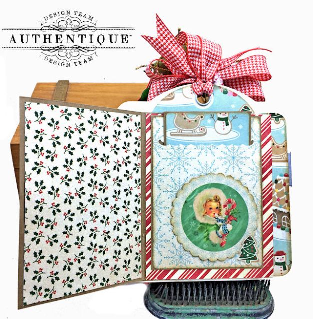 Authentique Jingle Gift Card Ornament Tags Video Tutorial by Kathy Clement Photo 10
