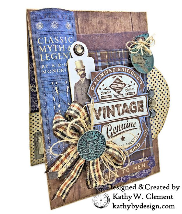Authentique Rugged Masculine Birthday Card by Kathy Clement Photo 02