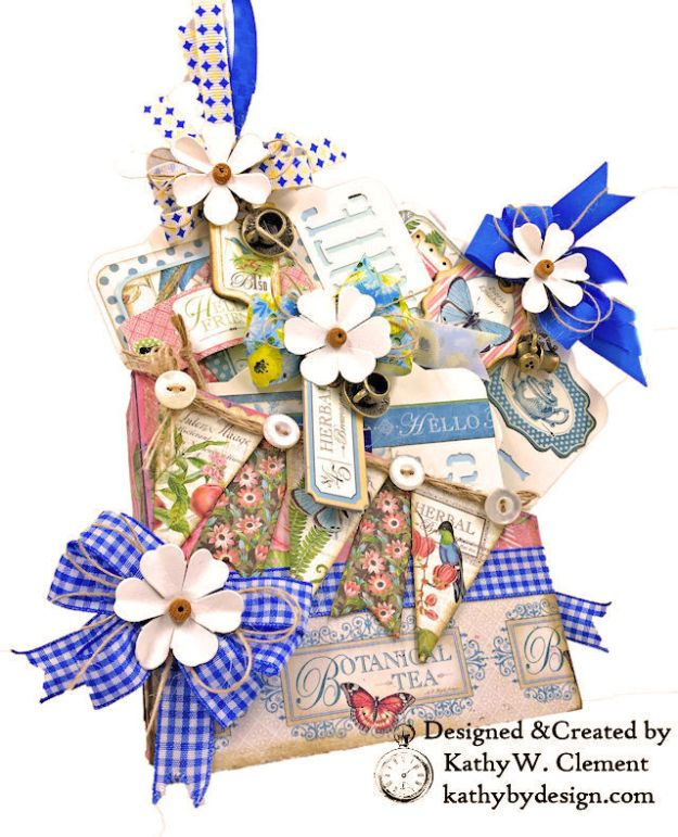 Graphic 45 Botanical Tea Party Box by Kathy Clement for Really Reasonable Ribbon Photo 01