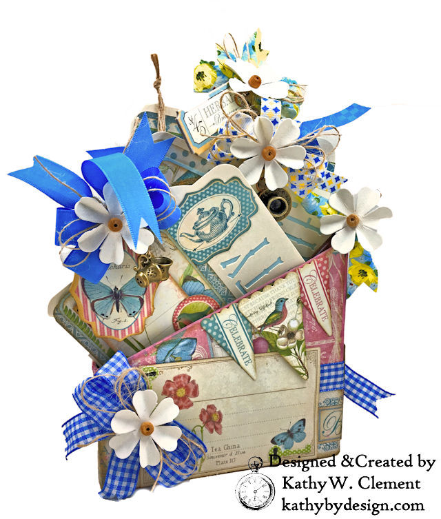 Graphic 45 Botanical Tea Party Box by Kathy Clement for Really Reasonable Ribbon Photo