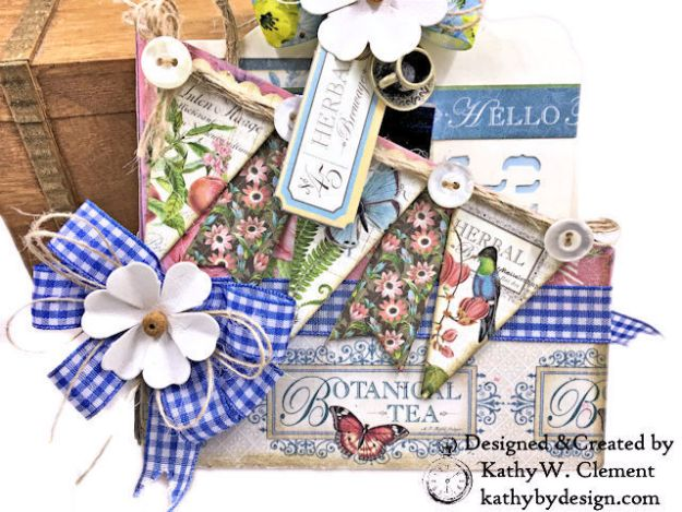 Graphic 45 Botanical Tea Party Box by Kathy Clement for Really Reasonable Ribbon Photo 02