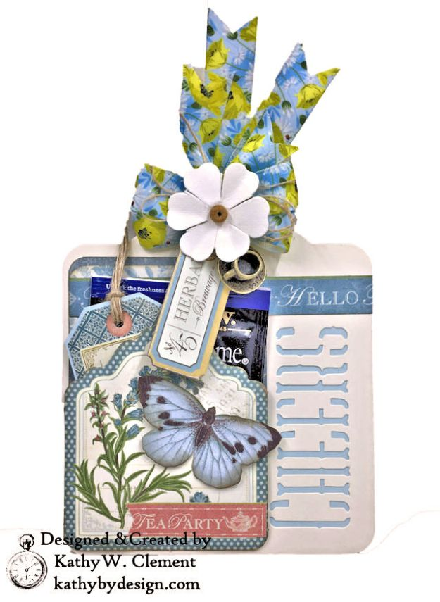Graphic 45 Botanical Tea Party Box by Kathy Clement for Really Reasonable Ribbon Photo 05