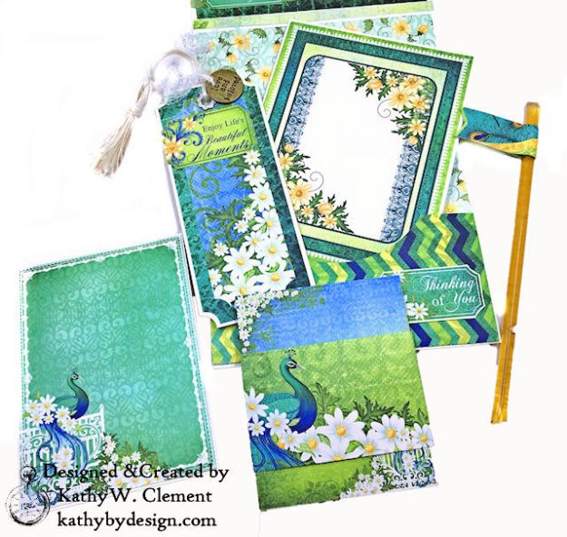 Heartfelt Creations Delightful Daisies Peacock Paisley Card Folio by Kathy Clement Photo 09