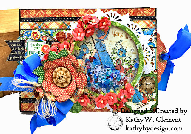Mother Goose Home Sweet Home How Does Your Garden Grow Shaker Top Folio by Kathy Clement for Really Reasonable Ribbon Product by Graphic 45 Photo 01