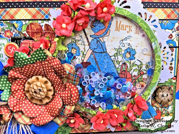 Home Sweet Home Garden Themed Mother Goose Shaker Top Folio by Kathy Clement for Really Reasonable Ribbon Product by Graphic 45 Photo 02