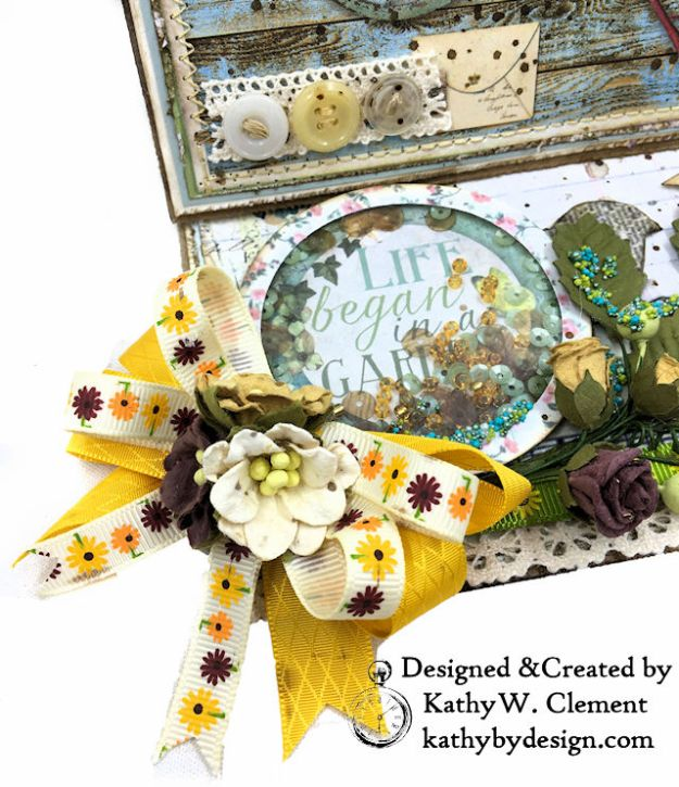 Stamperia Life Began in a Garden Easel Card Garden by Kathy Clement for Really Reasonable Ribbon Product Photo 03