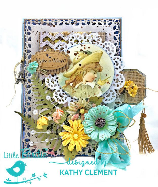 Little Birdie Crafts Sweet as Honey Summertime Card Tutorial by Kathy Clement Photo 01