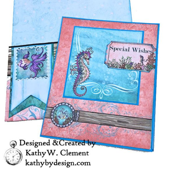 Heartfelt Creations Coral Sea Birthday Shaker Card Under the Sea by Kathy Clement Photo 06
