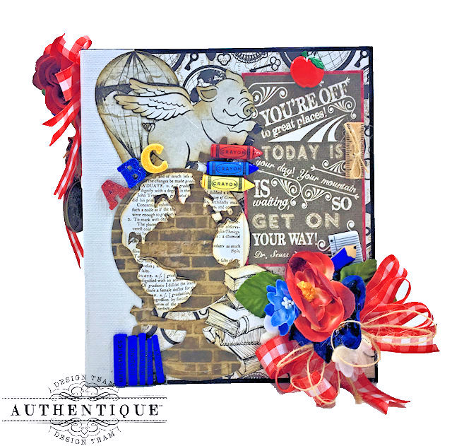 Authentique Paper Goes Back to School Accolade Mini Album by Kathy Clement Photo 01