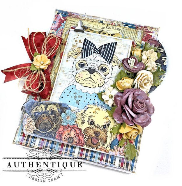 Authentique Companions Furry Friends Card Folio Tutorial by Kathy Clement Photo 02