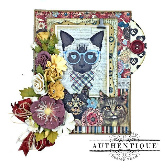 Authentique Companions Furry Friends Card Folio Tutorial by Kathy Clement Photo 06