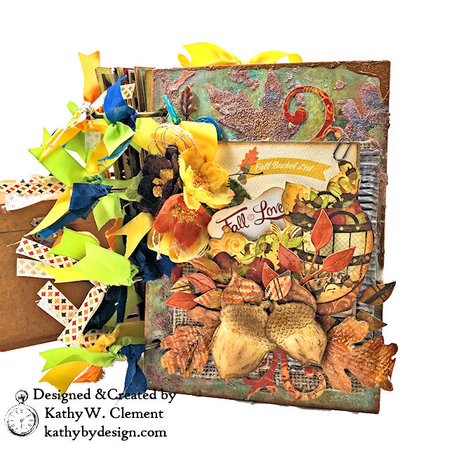 Fabulous Fall Stash Buster Mini Album by Kathy Clement for Really Reasonable Ribbon Photo 01
