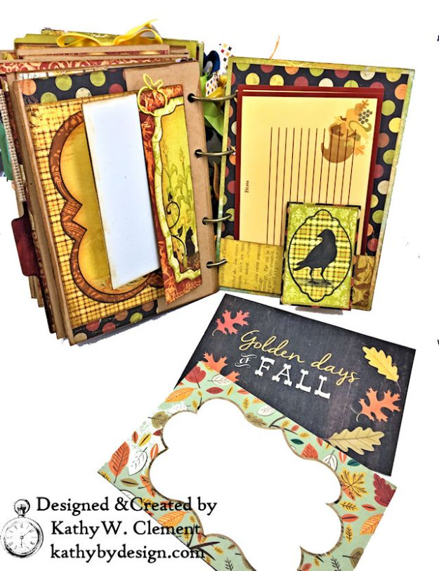 Fabulous Fall Stash Buster Mini Album by Kathy Clement for Really Reasonable Ribbon Photo 08