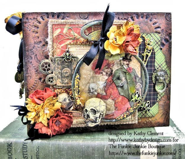 G45 Master Detective Faux Rust Mini Album by Kathy Clement for The Funkie Junkie Boutique Photo 01