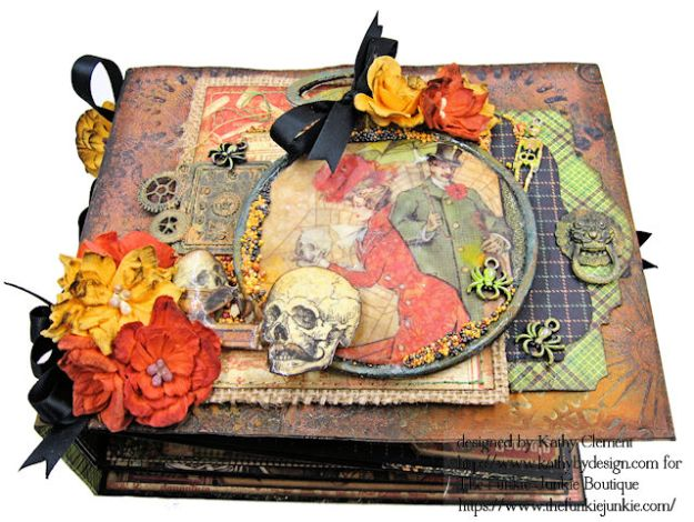 G45 Master Detective Faux Rust Mini Album by Kathy Clement for The Funkie Junkie Boutique Photo 02