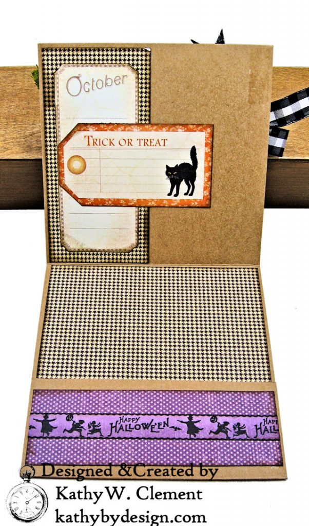 #Simply G45 Halloween Pocket Cards Tutorial Place in Time by Kathy Clement Product by Graphic 45 Photo 04