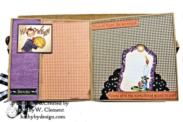 #SimplyG45 Halloween Pocket Cards Tutorial Place in Time Master Detective by Kathy Clement Product by Graphic 45 Photo 10