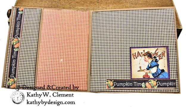 #SimplyG45 Halloween Pocket Cards Tutorial Place in Time Master Detective by Kathy Clement Product by Graphic 45 Photo 08