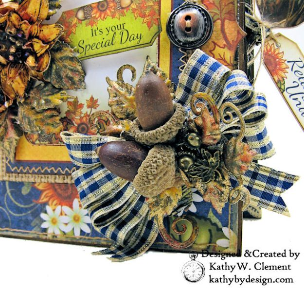 Heartfelt Creations Rustic Sunflowers Card Folio Beary Fun Retreat by Kathy Clement Photo 04
