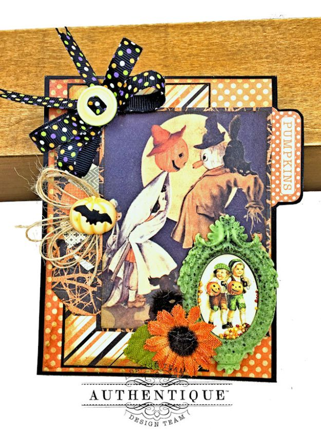 Authentique Nightfall Halloween Gift Card Tutorial by Kathy Clement for Authentique Paper Photo 06