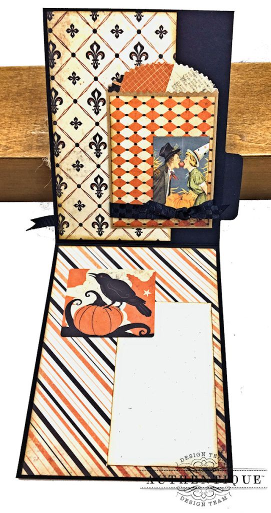 Authentique Nightfall Halloween Gift Card Tutorial by Kathy Clement for Authentique Paper Photo 07