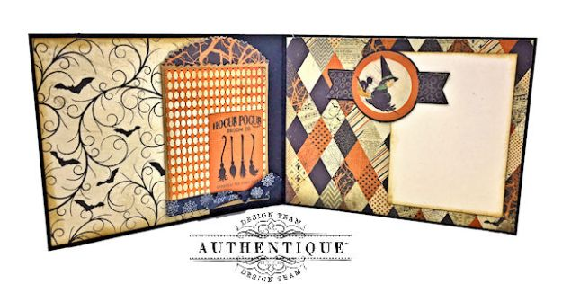 Authentique Nightfall Halloween Gift Card Tutorial by Kathy Clement for Authentique Paper Photo 03