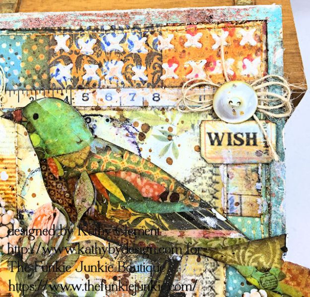 Stamperia Patchwork Life is Good Card Folio by Kathy Clement for The Funkie Junkie Boutique Photo 04
