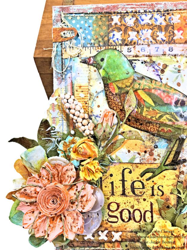 Stamperia Patchwork Life is Good Card Folio by Kathy Clement for The Funkie Junkie Boutique Photo 05