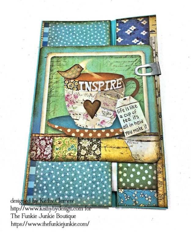 Stamperia Patchwork Life is Good Card Folio by Kathy Clement for The Funkie Junkie Boutique Photo 09