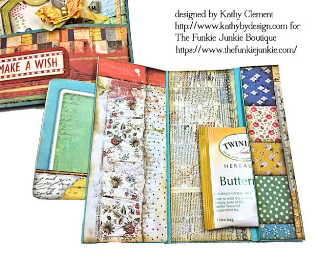Stamperia Patchwork Life is Good Card Folio by Kathy Clement for The Funkie Junkie Boutique Photo10
