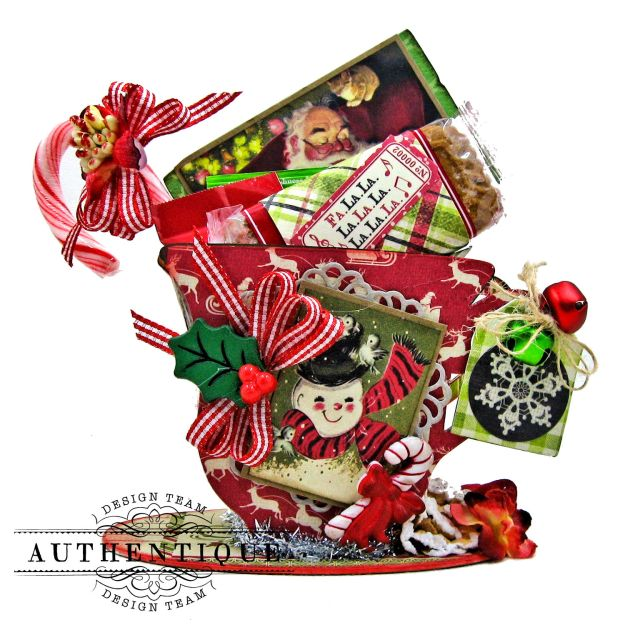Authentique Nostalgia Christmas Teacups by Kathy Clement Photo 02