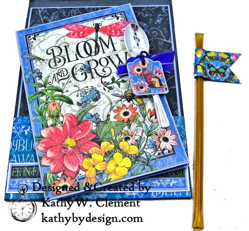 Flutter Full Bloom Card Folio by Kathy Clement for Really