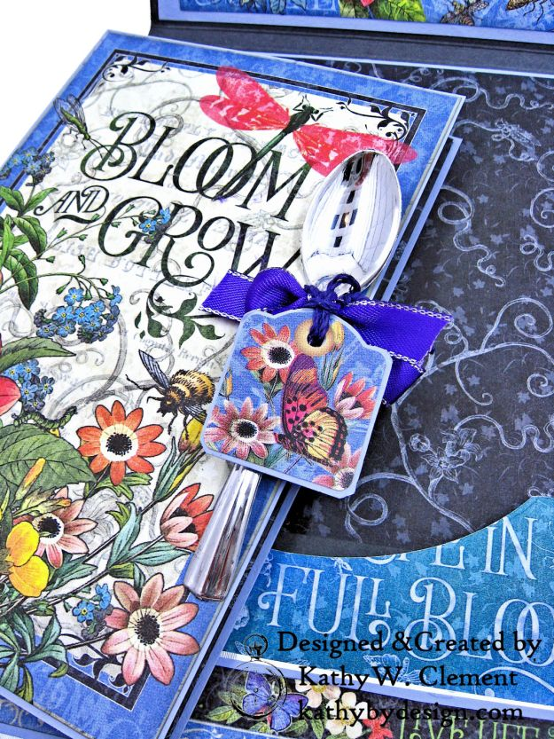 Graphic 45 Flutter Full Bloom Card Folio by Kathy Clement for Really Reasonable Ribbon Photo 09