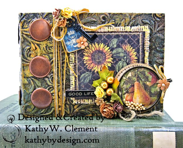 Graphic 45 French Country Gratitude Journal Tutorial by Kathy Clement for The Funkie Junkie Boutique Photo 01