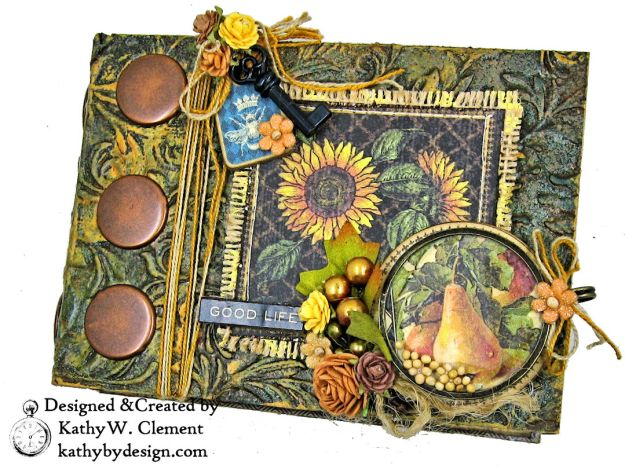 Graphic 45 French Country Gratitude Journal Tutorial by Kathy Clement for The Funkie Junkie Boutique Photo 02