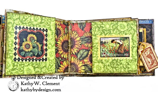 Graphic 45 French Country Gratitude Journal Tutorial by Kathy Clement for The Funkie Junkie Boutique Photo 08