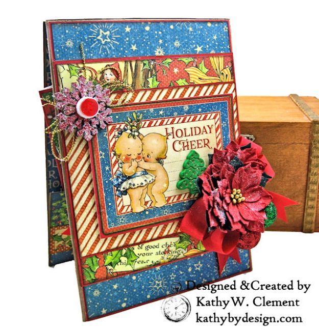 Holiday Cheer Christmas Magic Card Folio by Kathy Clement for Really Reasonable Ribbon Product by Graphic 45 Photo 02