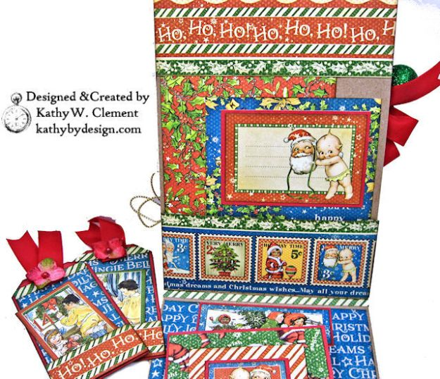 Holiday Cheer Christmas Magic Card Folio by Kathy Clement for Really Reasonable Ribbon Product by Graphic 45 Photo 05